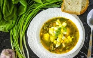 Суп щавелевый в мультиварке