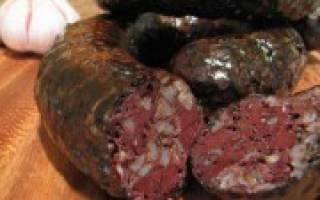 Как готовить кровяную колбасу