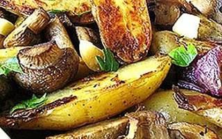 Шампиньоны с картошкой в мультиварке