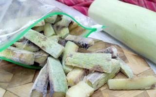 Как пожарить замороженные кабачки