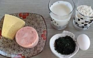 Пирог с ветчиной и сыром в мультиварке