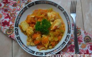 Как приготовить куриную грудку с овощами
