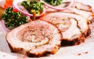 Как приготовить мясной рулет из свинины