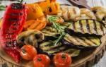 Овощи гриль на мангале маринад