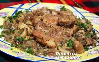 Как приготовить курицу с шампиньонами на сковороде