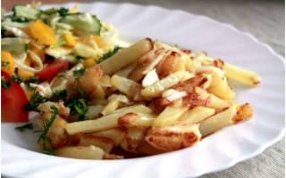 Жареная картошка в мультиварке Редмонд