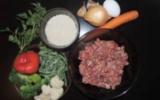 Готовим аппетитных ежиков из фарша с рисом в мультиварке