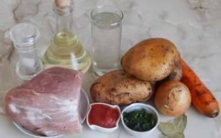 Тушеная картошка в мультиварке Витесс
