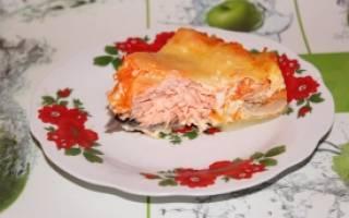 Запеканка из лосося в мультиварке