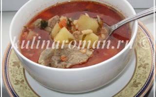 Суп харчо из баранины в мультиварке с чесночным ароматом