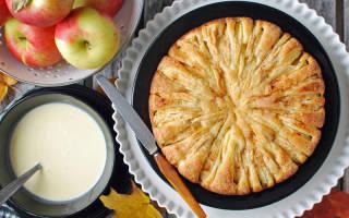 Пирог на кефире с яблоками в мультиварке