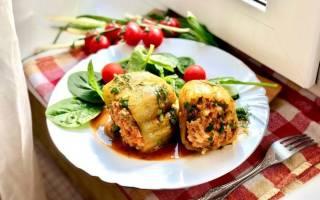 Перец фаршированный мясом и рисом в мультиварке