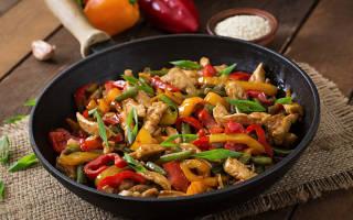 Как приготовить курицу с овощами на сковороде