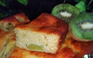 Пирог с киви в мультиварке