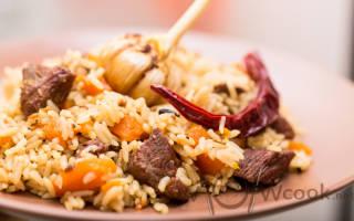 Как приготовить вкусный плов из баранины