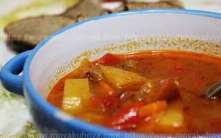Суп гуляш в мультиварке – рецепт как приготовить