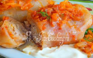 Как приготовить голубцы с мясом и рисом