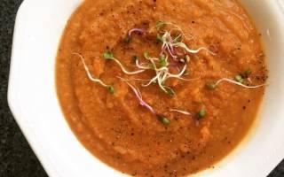 Чечевичный суп пюре в мультиварке
