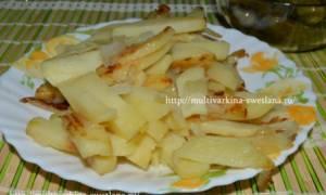 Жареная картошка в мультиварке Панасоник