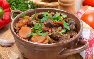 Как потушить мясо с овощами