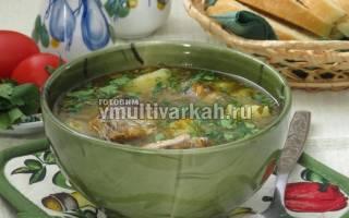 Суп из консервы Сардины в мультиварке