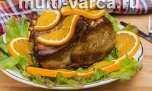 Свинина с апельсинами в мультиварке, на праздник