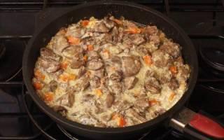 Как приготовить куриную печень на сковороде