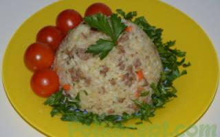 Как приготовить рис с фаршем на сковороде