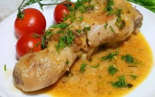 Курица, запеченная с овощами в сметане в мультиварке