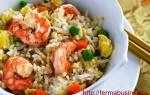 Как приготовить рис с креветками