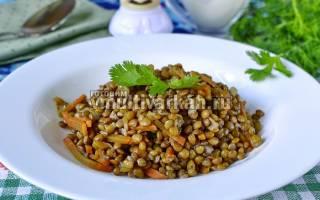 Чечевица, тушеная с луком и морковью в мультиварке