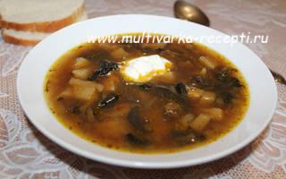 Грибной суп из сушеных грибов в мультиварке