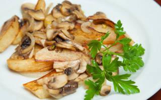 Жареная картошка с грибами в мультиварке Редмонд