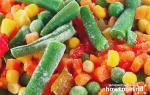 Как потушить замороженные овощи