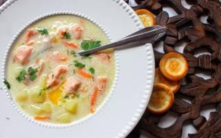 Сливочный суп из семги в мультиварке