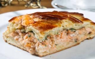 Рыбный пирог в мультиварке Redmond