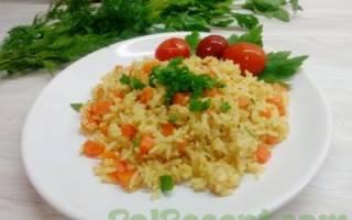 Как приготовить рис в сковороде