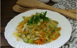 Капуста с кабачками в мультиварке – рецепты как приготовить