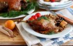 Как приготовить утку в духовке с гречкой