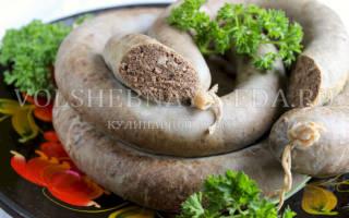 Домашняя ливерная колбаса, простой рецепт на пару