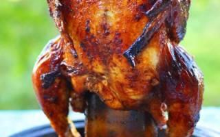 Как приготовить курицу на бутылке в духовке