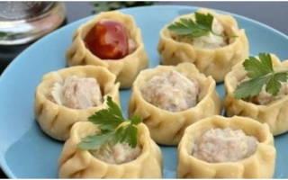 Блюдо из средней Азии, манты в мультиварках Редмонд и Поларис