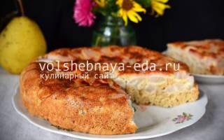 Грушевый пирог в мультиварке – пошаговый рецепт пирога с грушами
