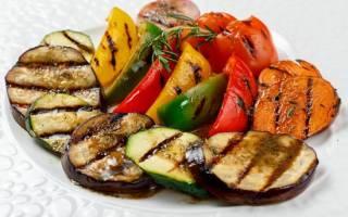 Овощи в духовке как на гриле