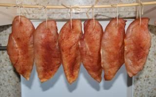 Как закоптить куриную грудку