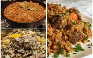 Как приготовить гречку с мясом в казане