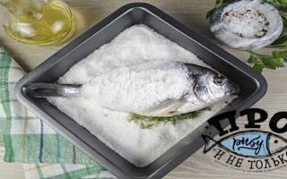 Как запечь рыбу в соли