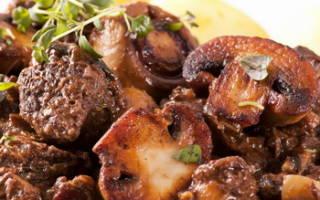 Как приготовить мясо с грибами на сковороде