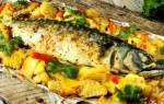 Как запечь скумбрию с овощами в духовке