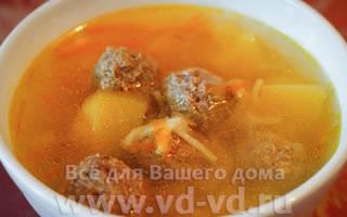 Суп с фрикадельками в мультиварке Редмонд